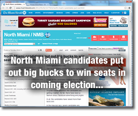 North Miami candidates put out big bucks to win seats in coming election